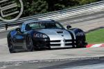 On September 14, 2011, veteran GT driver Dominik Farnbacher pilots the street-legal 2010 Dodge Viper ACR to a new production car lap record of 7:12.13 at the famed 12.9 mile Nürburgring Nordschleife (north course).